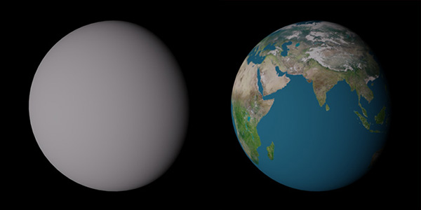Earth With and Without a Texture